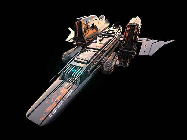 espace ship isolé - vaisseau spatial photos et images de collection