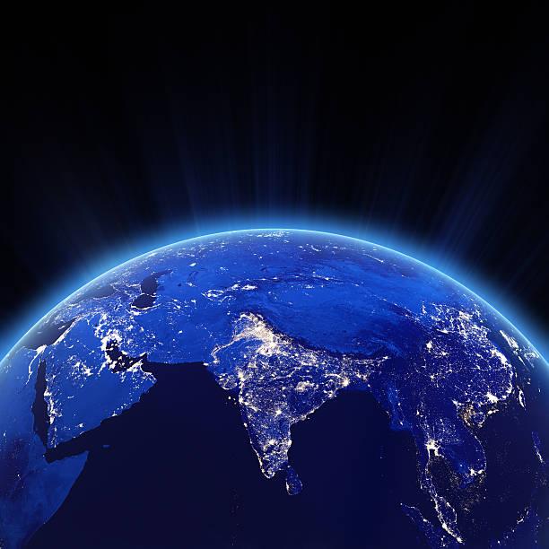 Indien-Stadt-Lichter in der Nacht – Foto