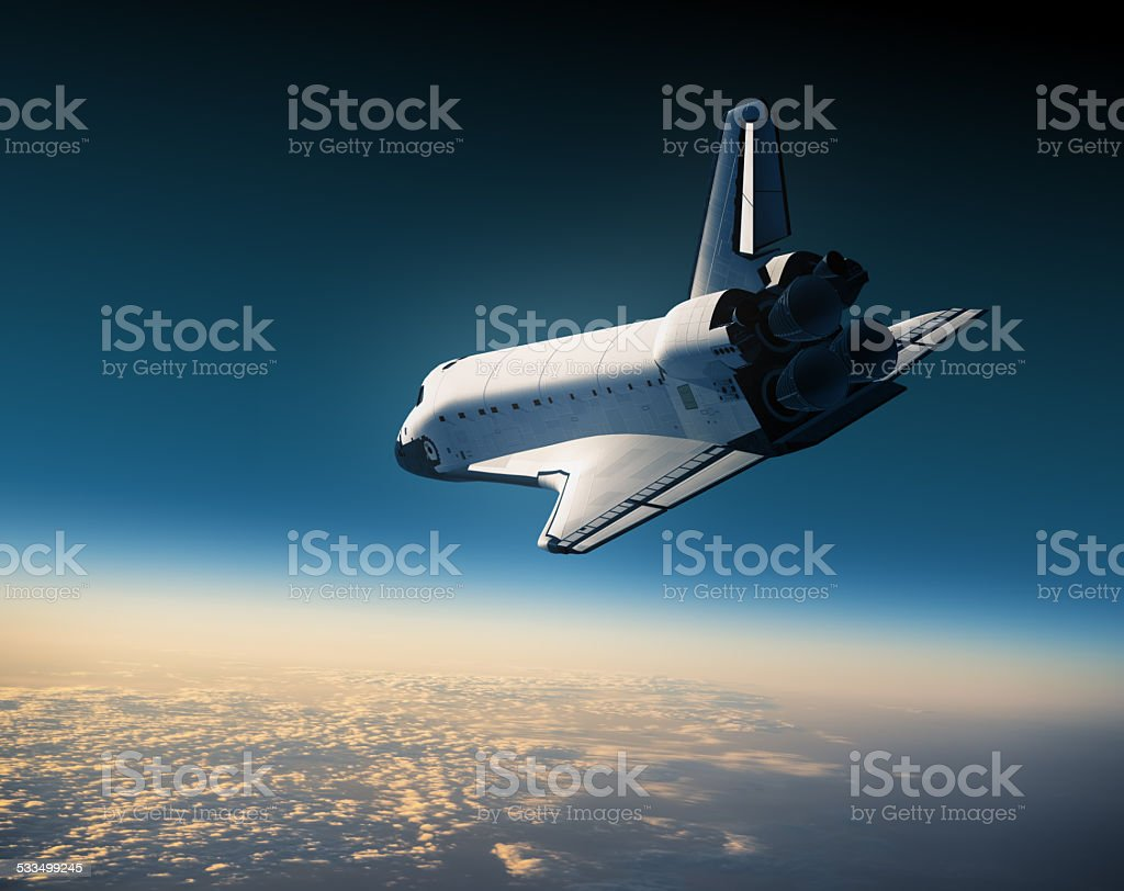 Space Shuttle Landing stock photo
