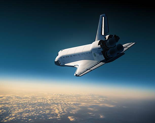 navetta spaziale landing - esplorazione spaziale foto e immagini stock