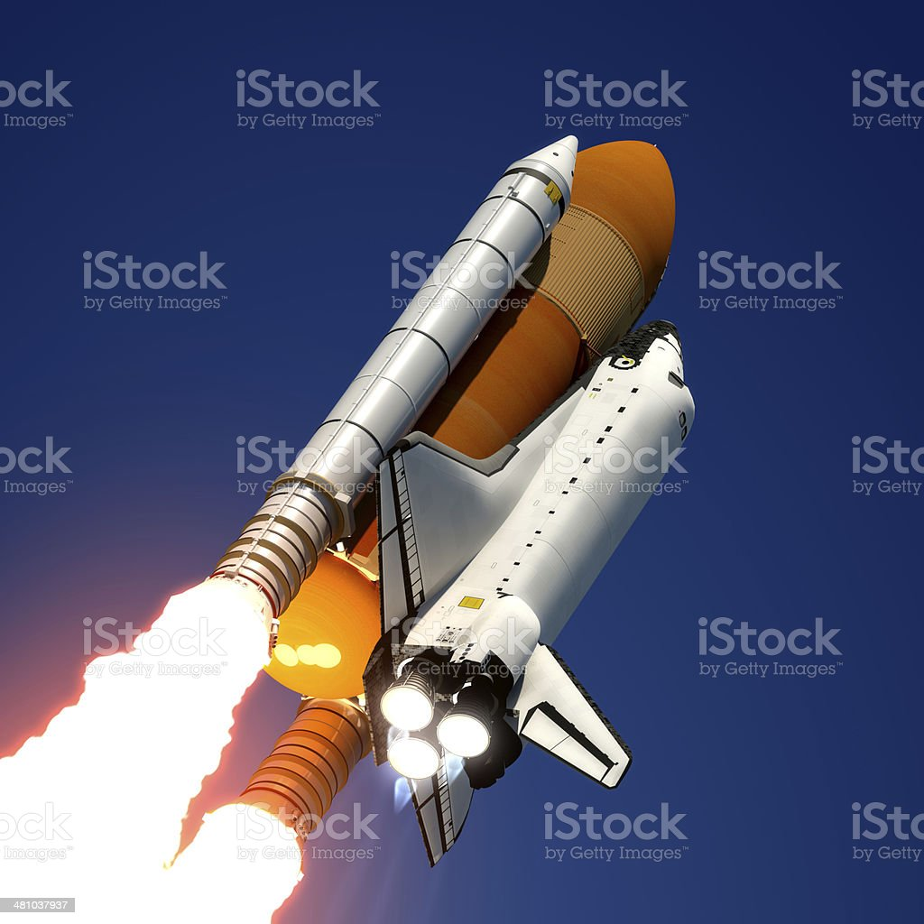 Space Shuttle Launch royalty-free stock photo