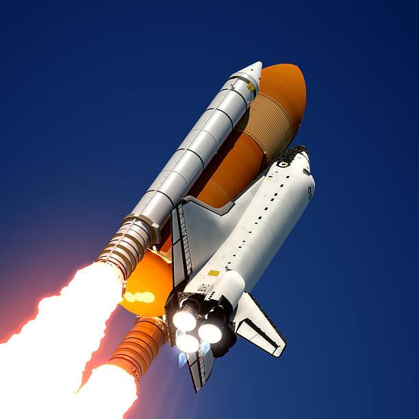 space shuttle launch - kennedy space center stock-fotos und bilder