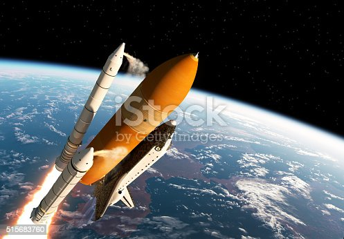 istock Space Shuttle Solid Rocket Boosters Separation 515683760