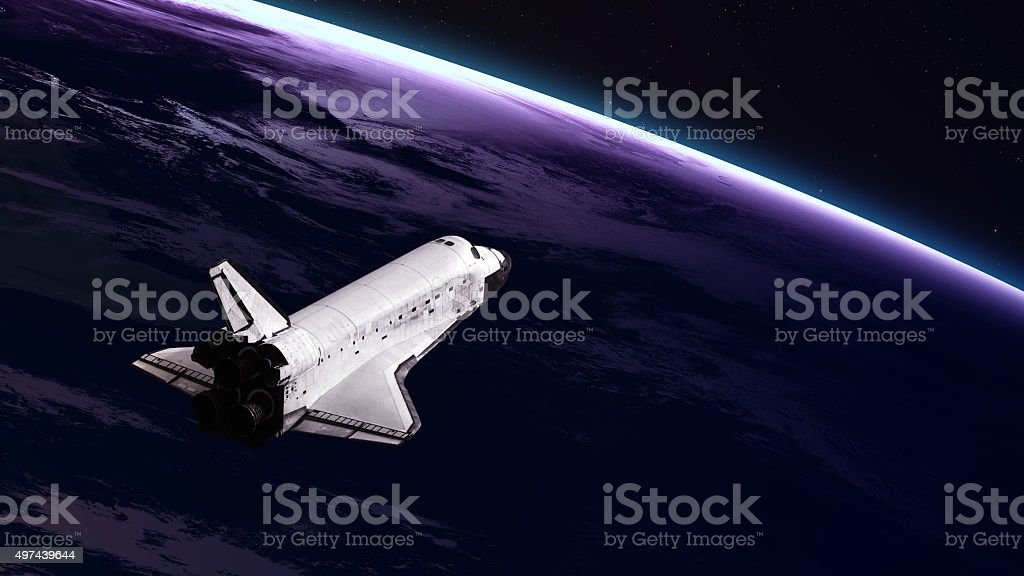 Space shuttle taking off on a mission. Elements of this stock photo