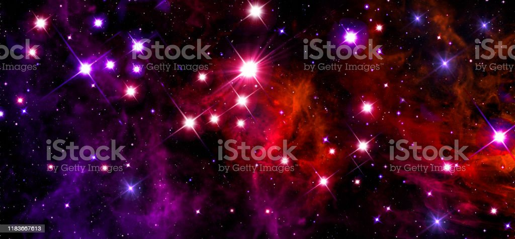 Space Space Bright Colorful Background Universe Astronomy Blue Blackpurplered Glitter Stars Glow Many Stars Starry Sky Foggy Stock Photo Download Image Now Istock