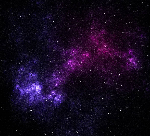 Space stars and nebula stock photo