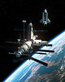 istock Space Station And Space Shuttle In Outer Space 943404618