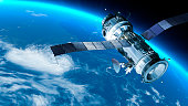 istock Space station in Earth orbit. 182062885