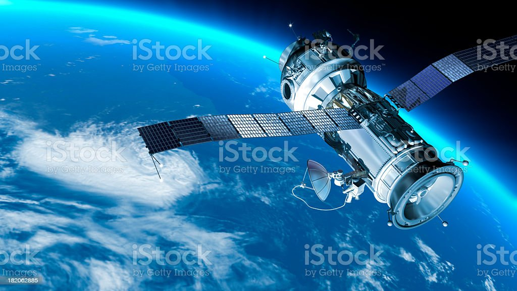 Space station in Earth orbit. stock photo