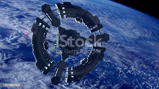 Leaving Planet Earth - concept. Textures of Planet earth are from Nasa public domain