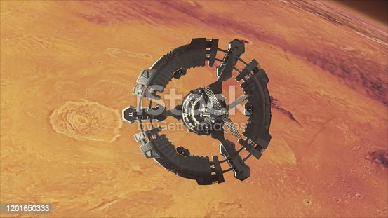 Mars exploration - concept. Textures of Planet Mars are from Nasa public domain