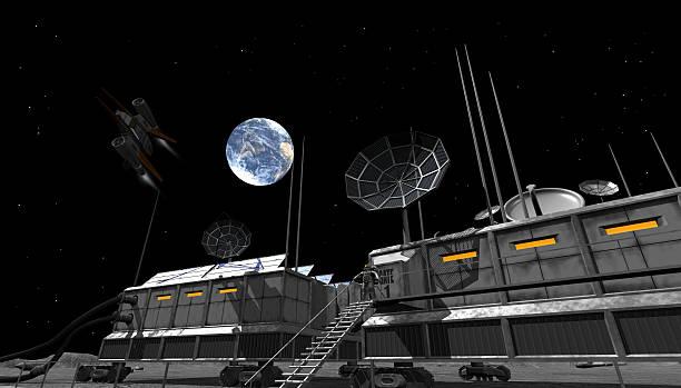 Raumstation auf moon – Foto