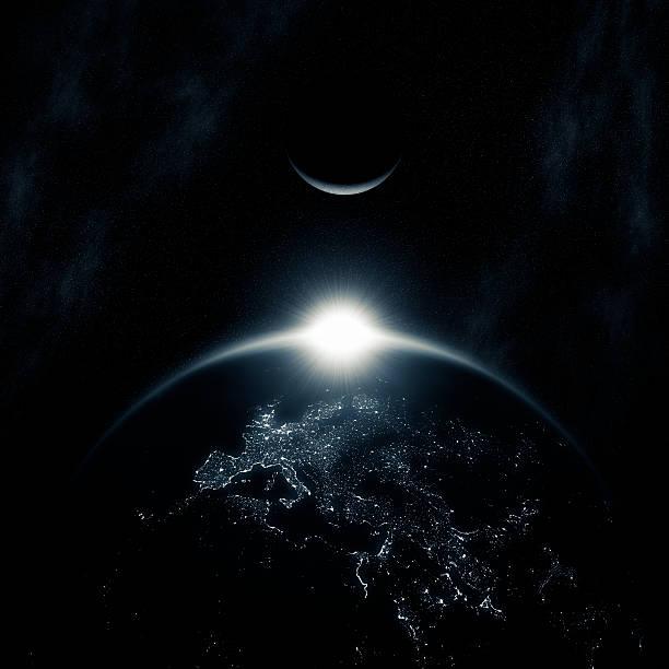 space sunrise (europe) xxl - earth from space bildbanksfoton och bilder