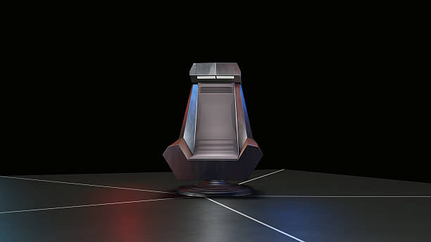 space throne, ready for comp of your characters. - tron sci fi bildbanksfoton och bilder