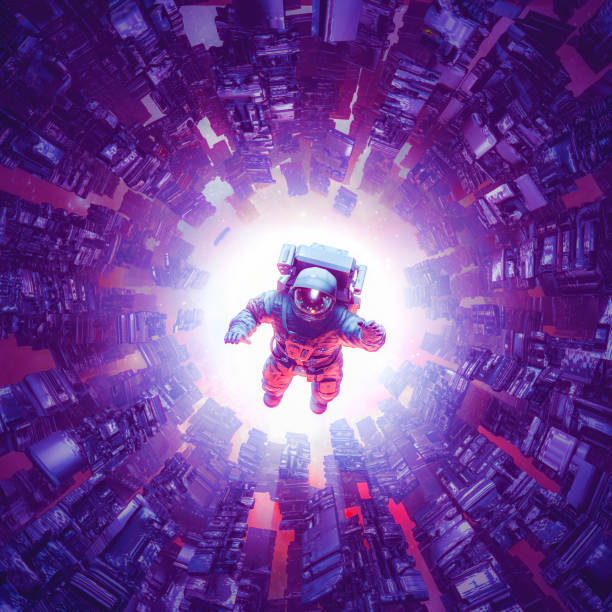 Space time singularity stock photo