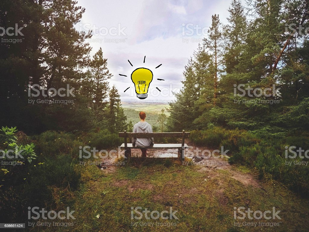 Space to Think stock photo