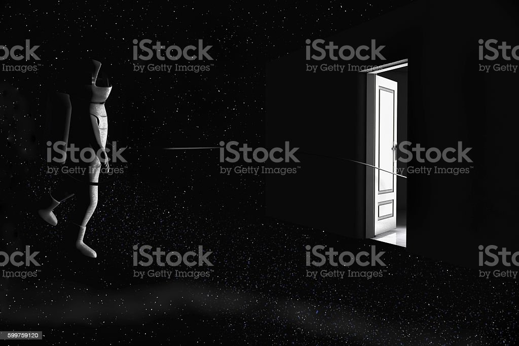 Space tourism stock photo