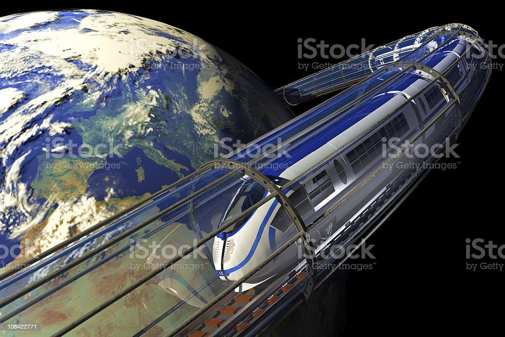 Space Train stock photo