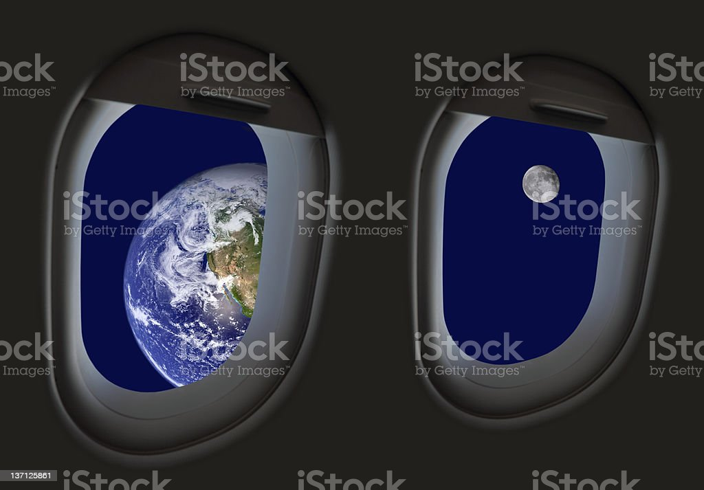 Space travel -  I can see your house from here... royalty-free stock photo