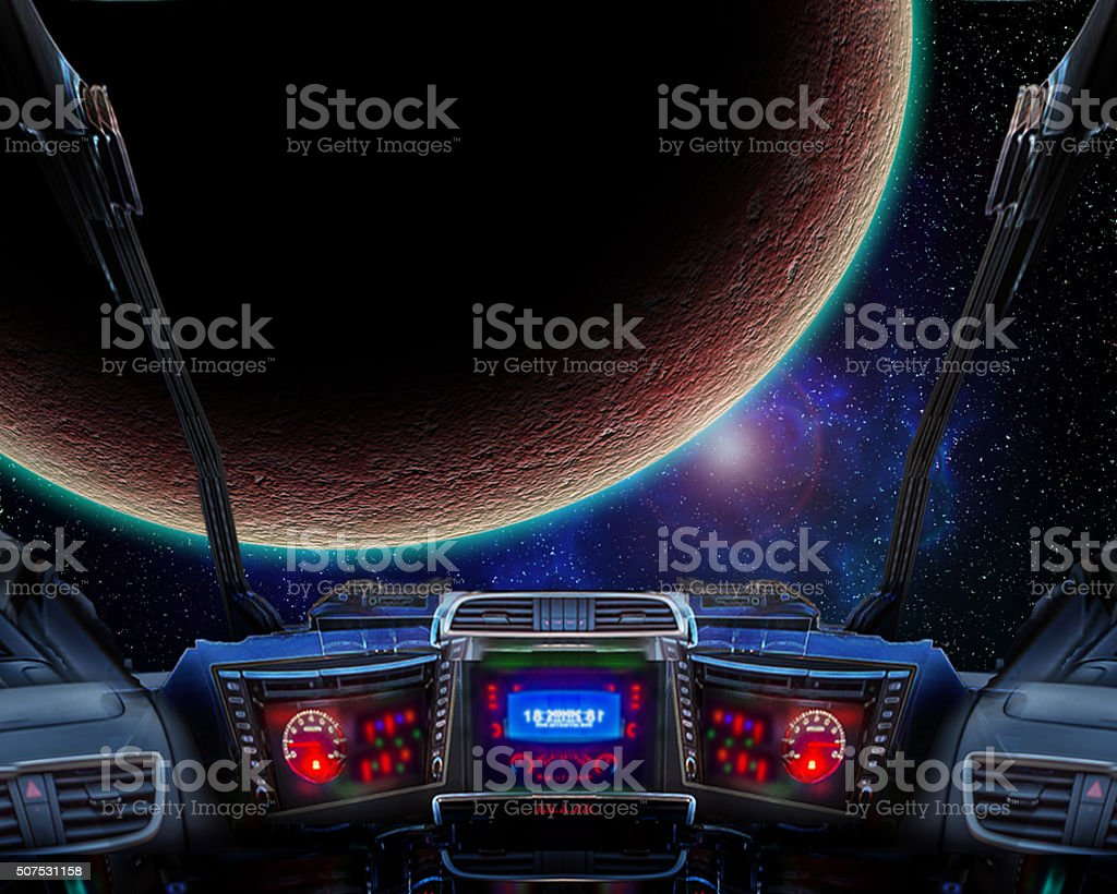 Space travel stock photo