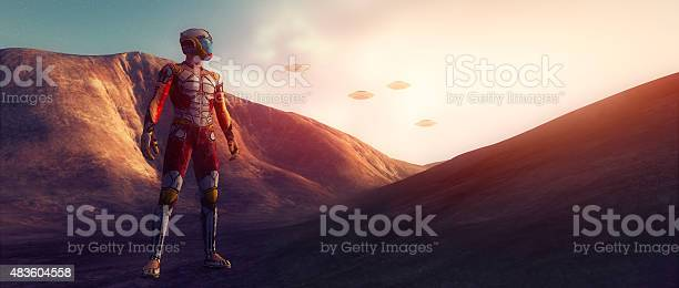 Space traveler on distant planet watching ufos picture id483604558?b=1&k=6&m=483604558&s=612x612&h=bn  mqkuu cesq9ytav7xv unxpf8zhbqukk k9wiog=