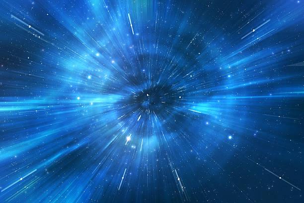 space warp di viaggio attraverso universo - big bang foto e immagini stock