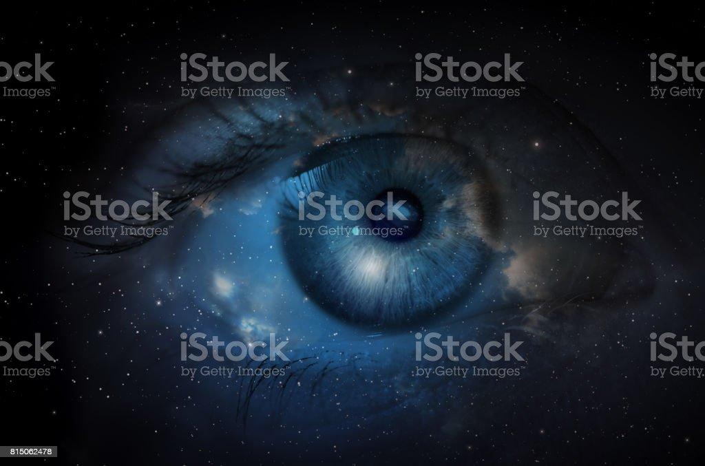 Raum mit menschlichen Auge. – Foto