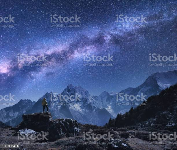 Space with milky way and mountains standing man on the stone and picture id911898414?b=1&k=6&m=911898414&s=612x612&h=0ei9k t4bjdelbbx7vy5vg16vrj9  jtxuf5owd8v 8=