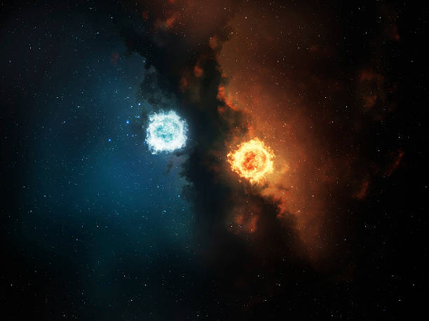 space yin yang - yin yang symbol stock pictures, royalty-free photos & images