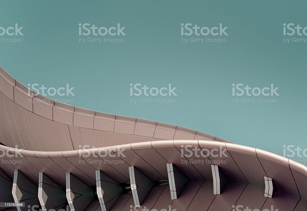 Spaceage structure 4 stock photo
