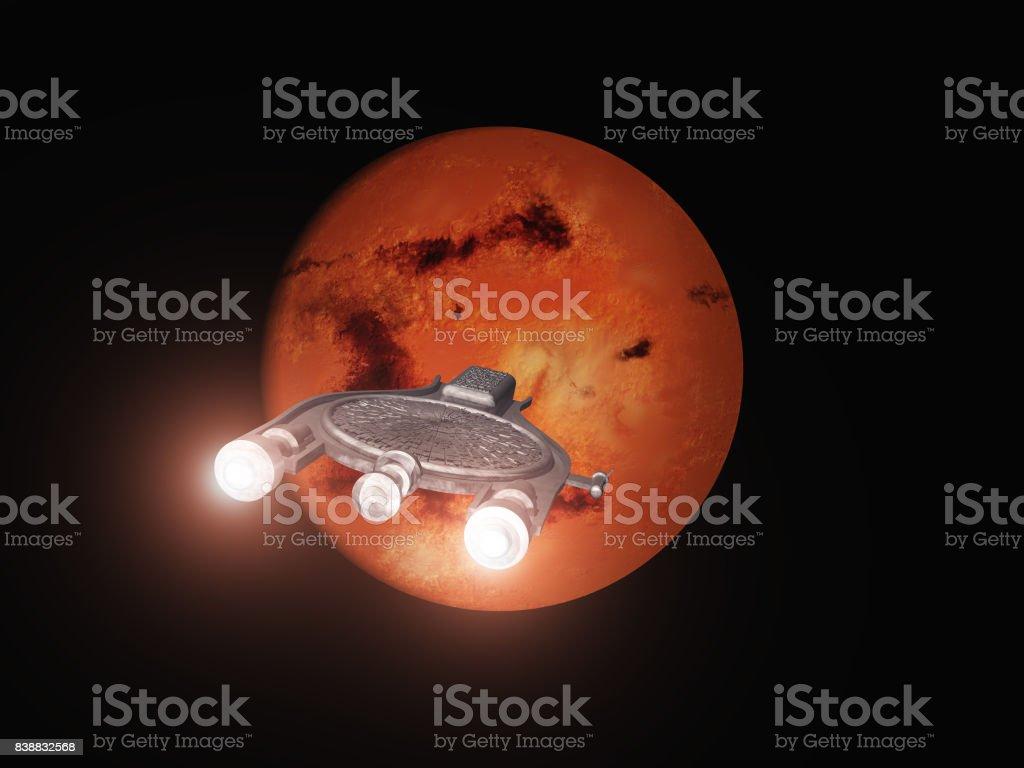 Überschrift der Raumschiff zum Mars – Foto