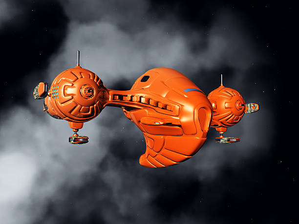 Spacecraft in Space stock photo