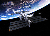 istock Spacecrafts And International Space Station 646851728