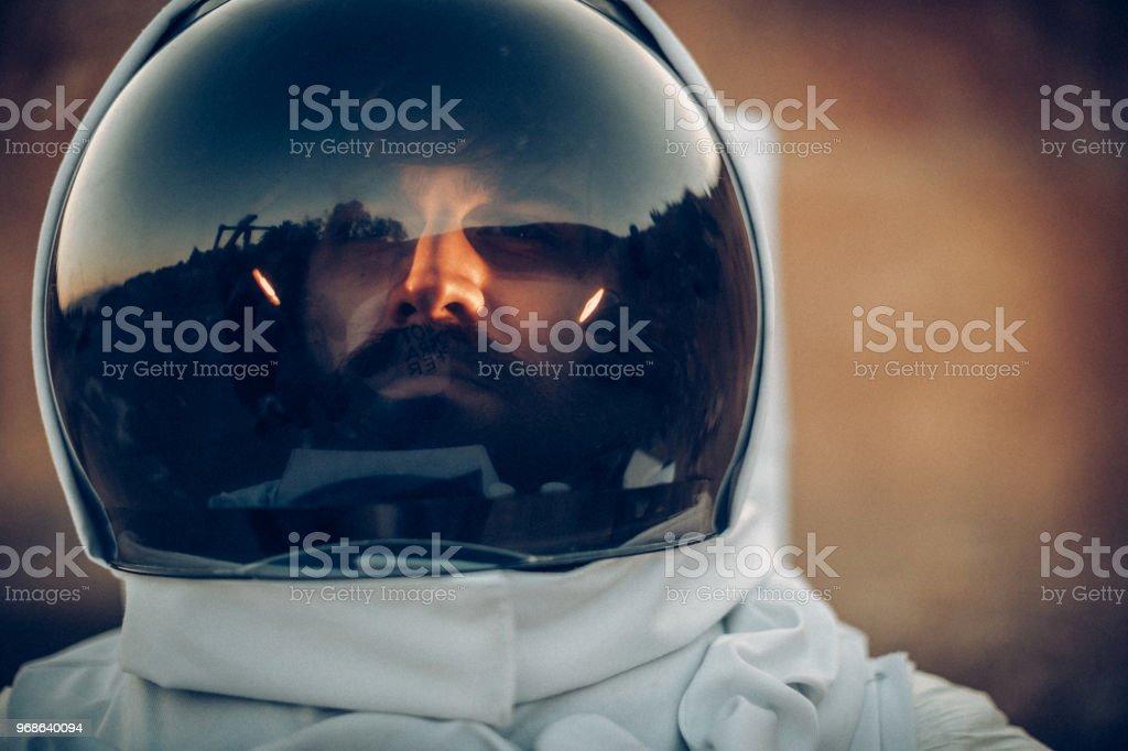 Spaceman stock photo