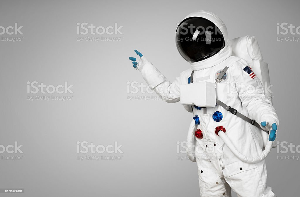 Spaceman showing stock photo