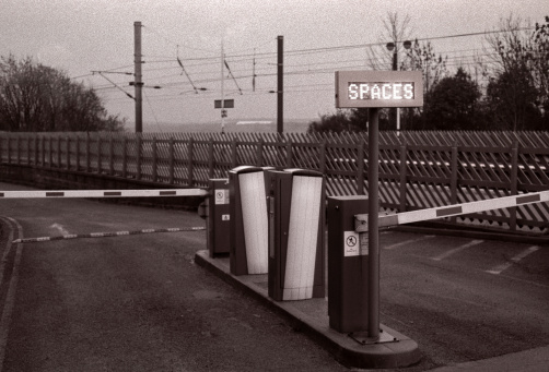 Spaces Available At The Car Park Stock Photo - Download Image Now
