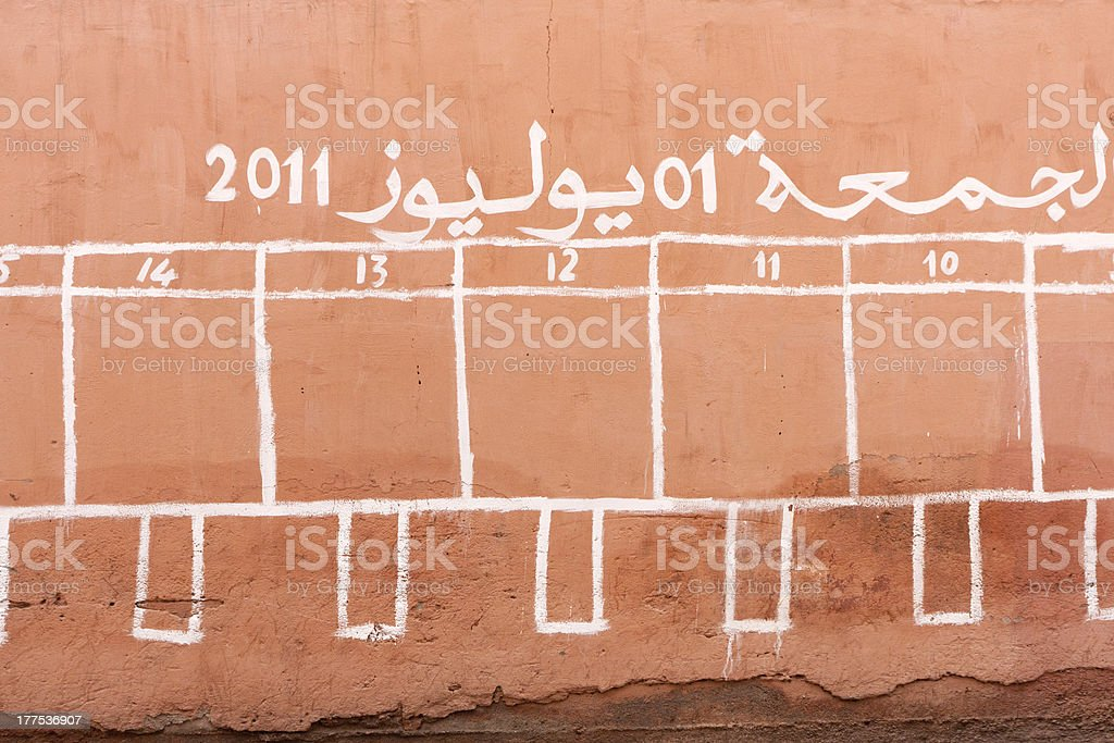 Spaces for election posters in Marrachesh stock photo