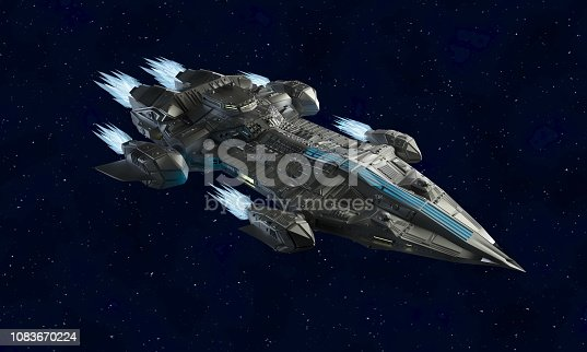 istock spaceship aircraft for science fiction 3d rendering of alien spacecraft 1083670224