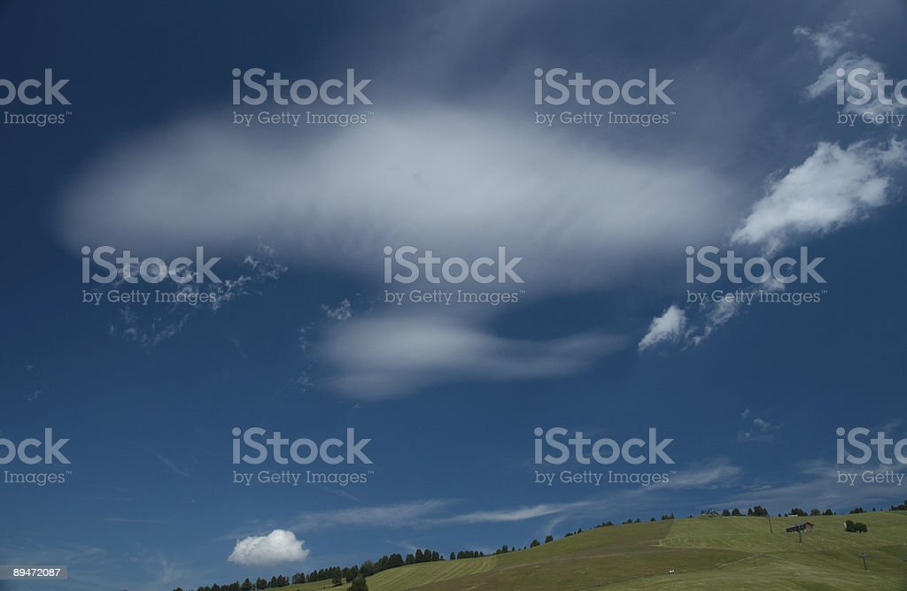 Razzo spaziale cloud foto stock royalty-free