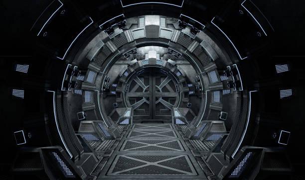 vaisseau spatial intérieur ronde. - vaisseau spatial photos et images de collection