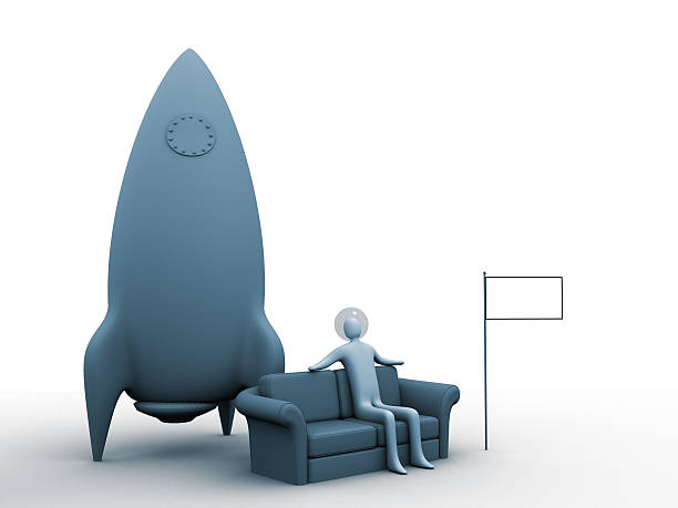 space-sofa - rocket logo stock photos and pictures