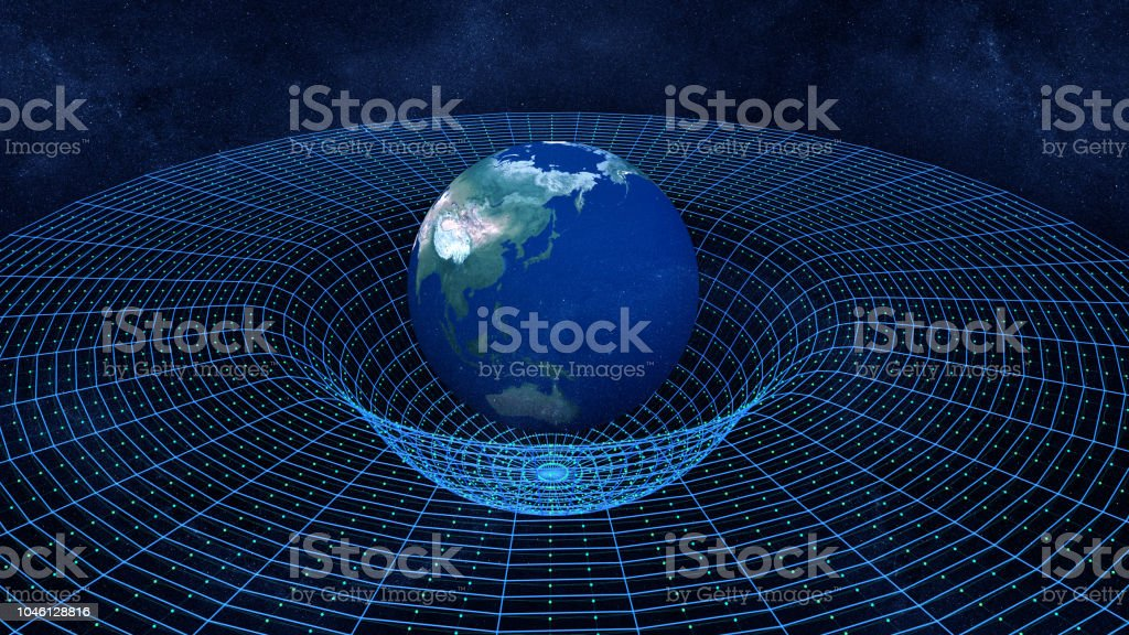 Spacetime or Theory of relativity stock photo