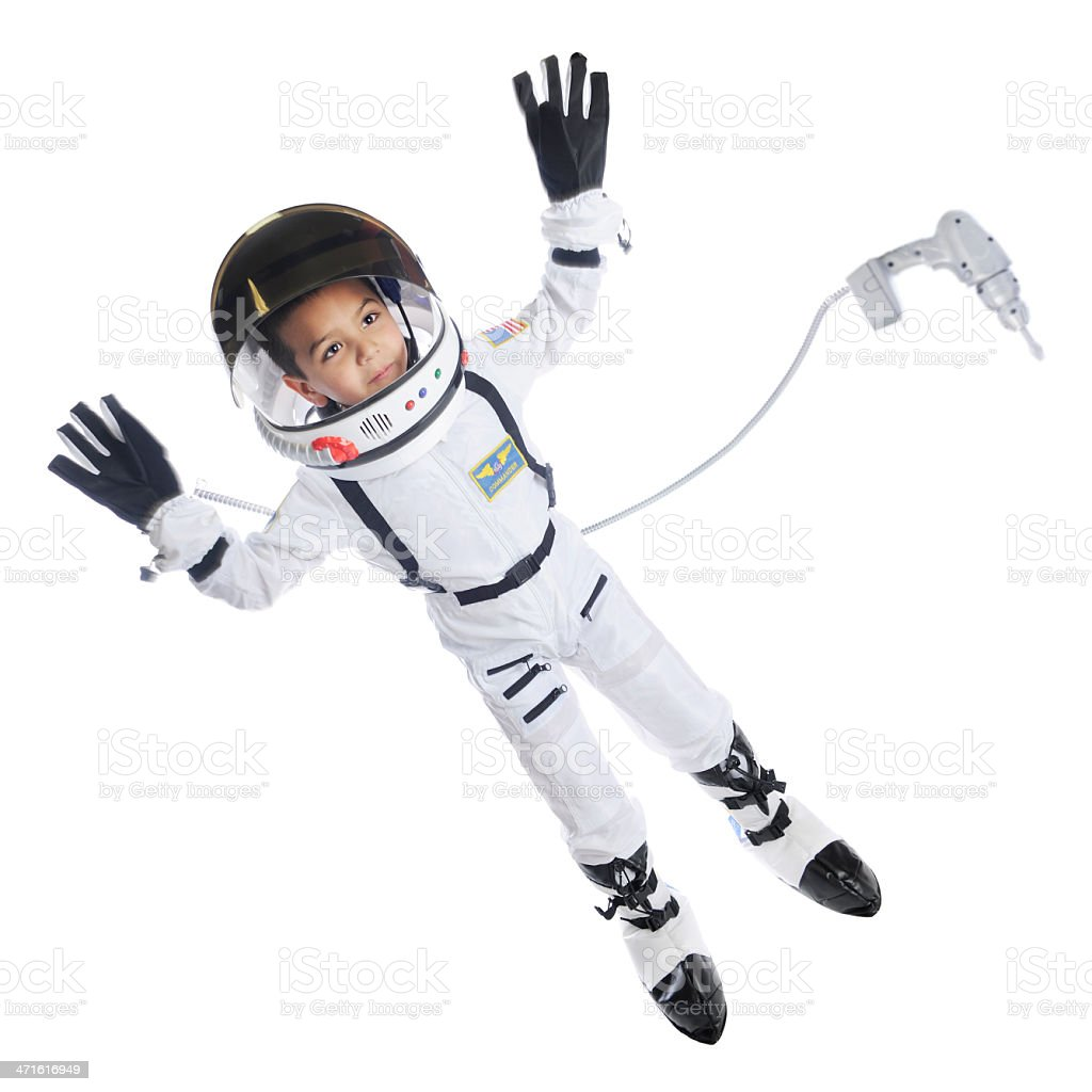 Space-Walking Kid stock photo