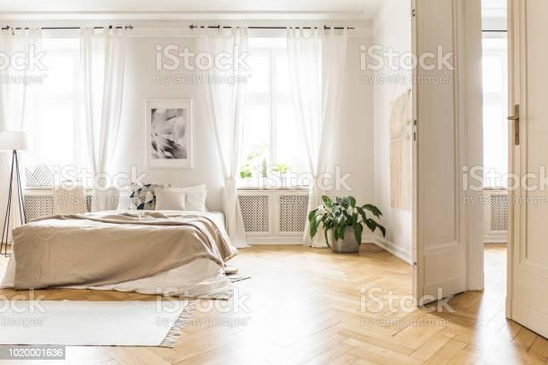 Spacious and bright bedroom interior with beige decorations hardwood picture id1020001636?b=1&k=6&m=1020001636&s=612x612&h=kgueqjloodum xrgkubggzjmlgwhr8ezmfsma0pzm2m=