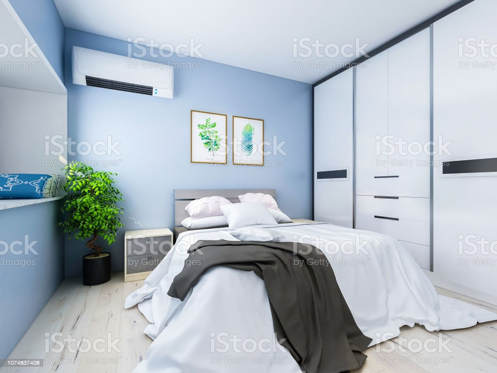 Geräumig Und Unbemannte Schlafzimmer Design Mit Massivem