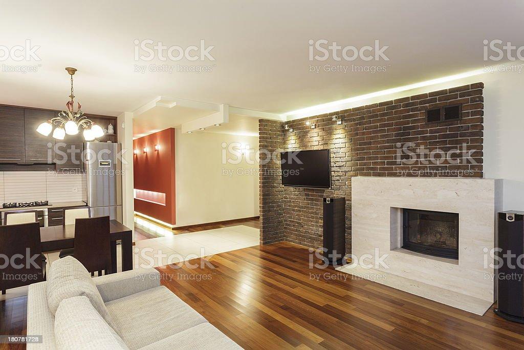 Spacious apartment - interior royalty-free stock photo