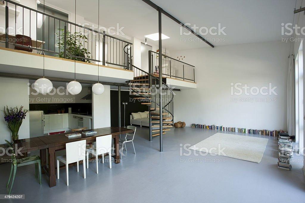 Spacious Apartment With Mezzanine stock photo