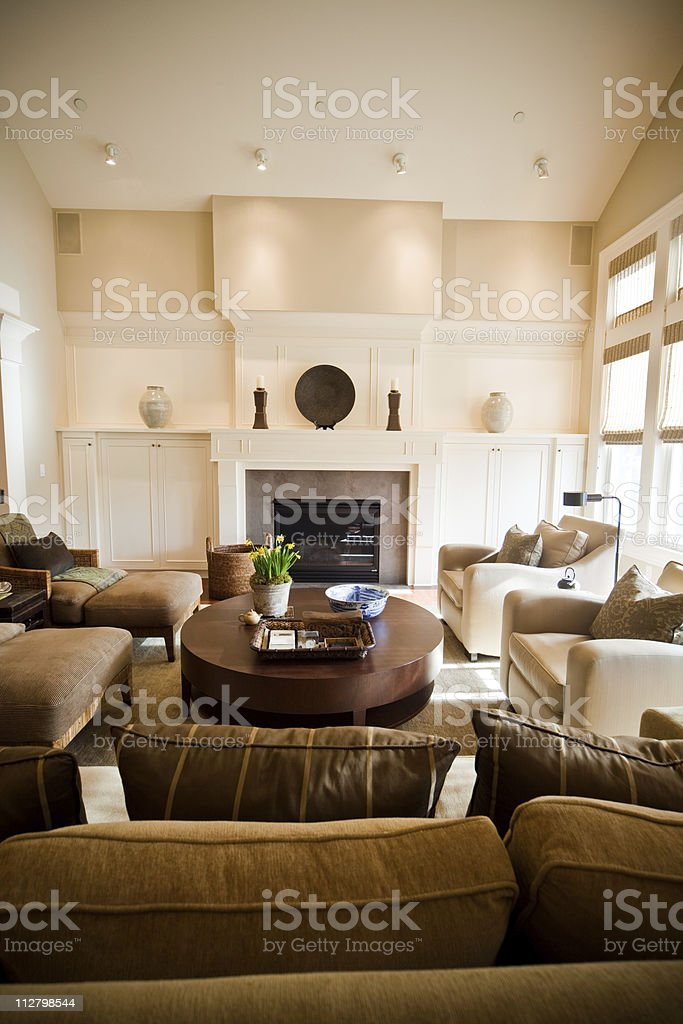 Spacious Artistic Modern Living Room With Expensive Furnishings Stock Photo Download Image Now Istock