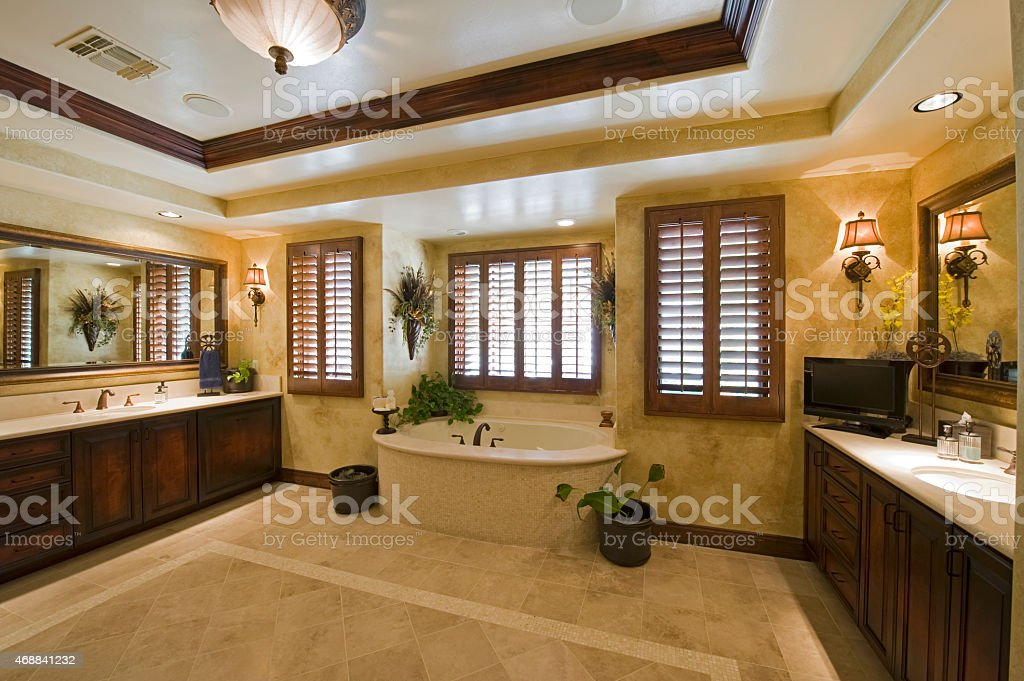 Spacious Bathroom stock photo