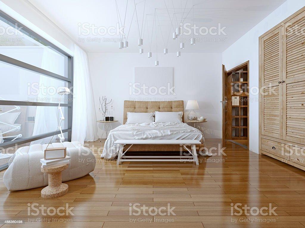 Geräumiges Schlafzimmer Hightechstil   Stockfoto | IStock